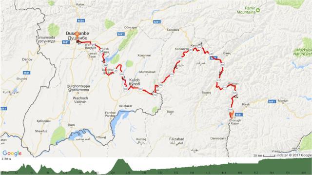 1 Dushanbe-Khorog (Südroute) 625km 8000Hm