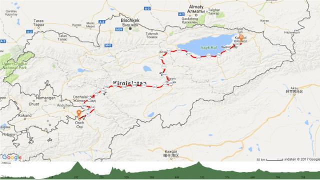 5 Osh-Naryn-Karakol 815km 8400Hm