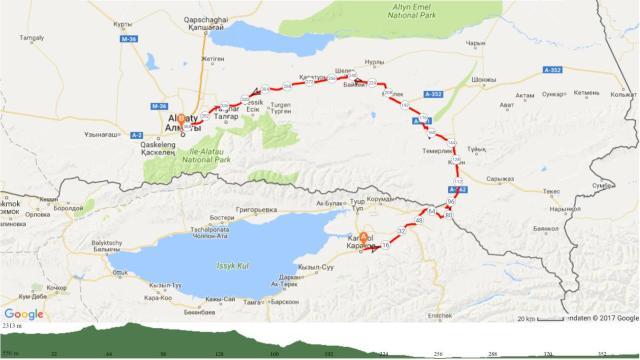6 Karakol-Karkara-Almaty 375km 2000Hm
