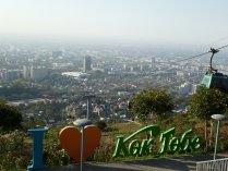 Blick vom Kok-Tobe auf Almaty