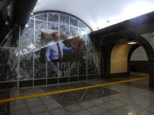 der Präsident Nasarbajev darf natürlich nicht fehlen - Station Almaly