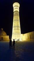 Das beleuchtete Kalon Minarett