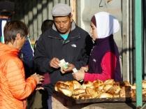 Frische Samsas auf dem Markt