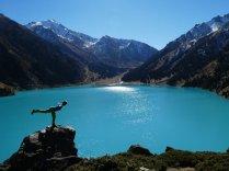 So türkis der See, so blau der Himmel, so breit mein Grinsen, zum Abheben schön!