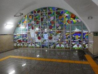 Glasmalerei in der Station Almaly