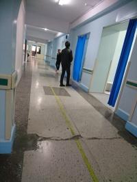 Krankenhausflur sonntags