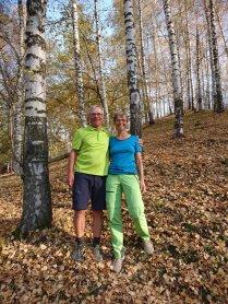 Wanderung durch den herbstlichen Birkenwald