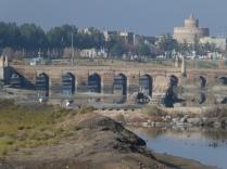 Brücke in Varzaneh beim Losfahren