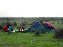 Zeltplatz am Kaspischen Meer