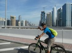 Radfahrer in Dubai - ein Abenteuer