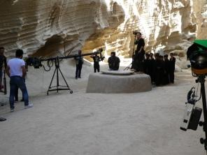 Dreharbeiten im Chakoon Canyon