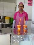 Karottensaft frisch gepresst mit Safraneis