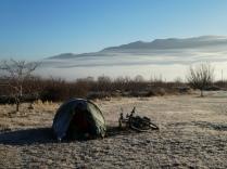 Reif auf und ums Zelt