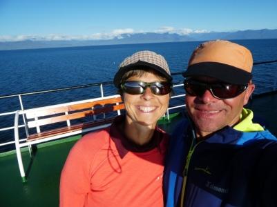 Der erste Tag auf dem.Schiff hatten wir super Wetter