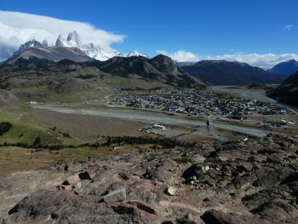 Blick vom Mirador de los Condores auf Chalten