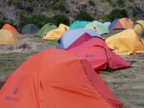 Zeltchaos am Campamento Paine Grande