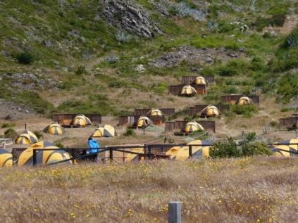 Zeltstadt am Campamento Paine Grande