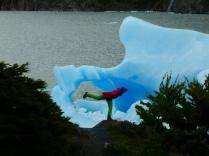 Flieger vo blauen Eisbergen