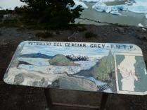 Auch hier schmelzen die Gletscher, in der Karte sieht man die Linien