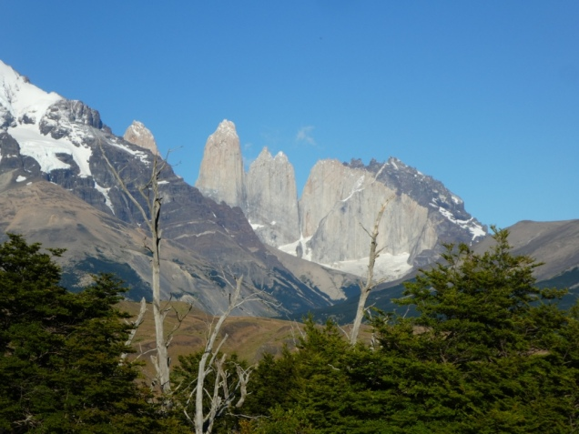 Morgendlicher Blick auf die Torres