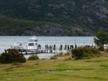 Punta Norte Lago Desierto viele Radler nutzen die Fähre