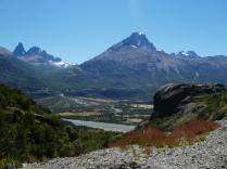 Blick vom Mirador auf Villa Cerro Castillo