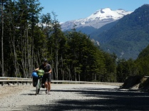 Schotterschiebestrecke vor Villa Cerro Castillo