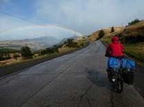 Regenbogen bedeuten Sonne und...