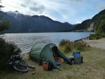 Zeltplatz am Lago Torres