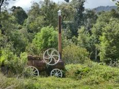 Ein alter Dampftraktor