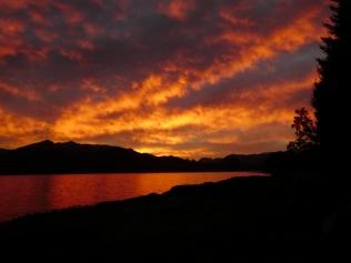 Sonnenuntergang in Puerto Manzano