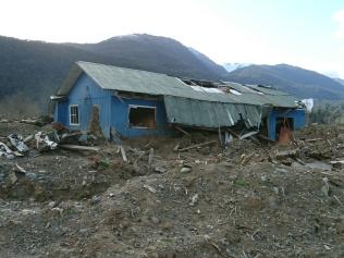 Zerstörtes Haus in Santa Lucia