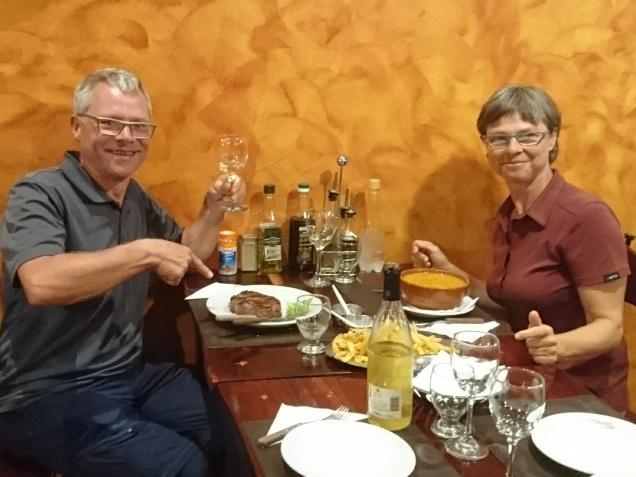 Abendessen im Doña Salta