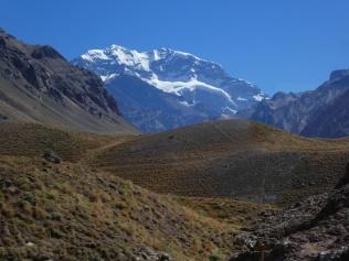Blick zum Aconcagua, der höchste Berg Amerikas