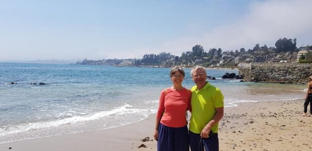 am Strand von Vina del Mar