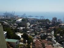 Blick aus Pablo Nerudas Haus zum Hafen
