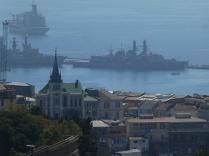 Blick hinunter zum Hafen