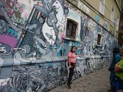 Paula erklärt uns das Graffiti