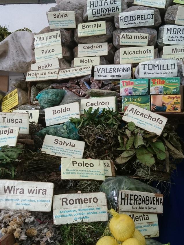 Heilkräuter auf dem Markt