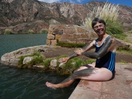Schlammpackung am Ojo del Inka