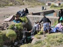 Das Thermalwasser wird auch zum Wäsche waschen genutzt