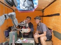 Birgits Schuhe werden genäht