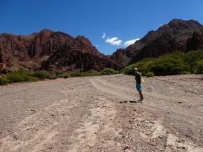 Weg zum Canyon de Inca