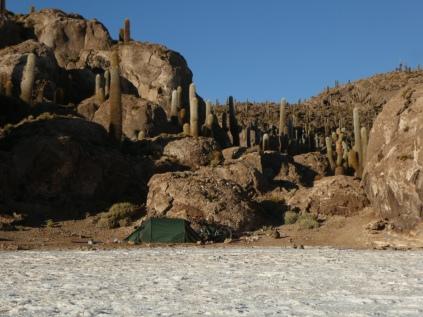 Unsre Bucht auf der Isla Incahuasi