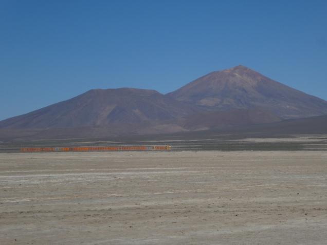 Zug mit Erz nach Chile