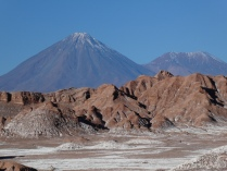 im Valle de la Luna, Blick auf den Licancabur