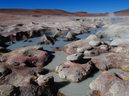 Geothermiefeld auf dem Weg