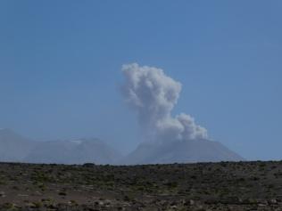 Eruption des Vulkan Sabancaya