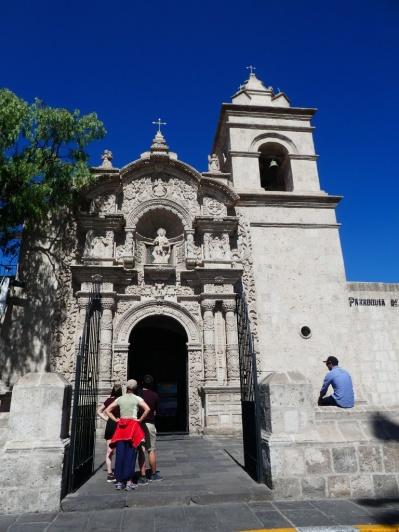 die Kirche San Juan Bautista in Yanahuara