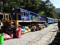 der Zug von Hydroelectrica nach Aguas Calientes